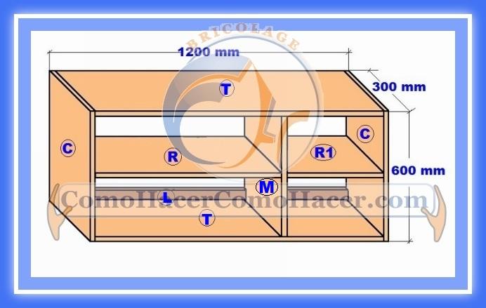 Plano mueble cocina alacena de melamina detalles del for Plano escritorio melamina
