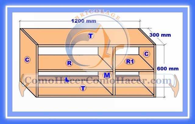 Plano mueble cocina alacena de melamina detalles del for Planos de roperos en melamina gratis