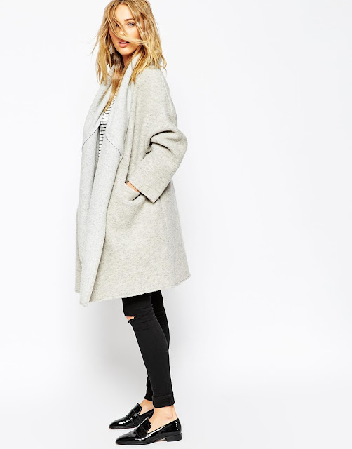 light grey winter coat