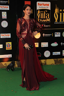 Actress Lavanya Tripathi Stills in Red Dress at IIFA Utsavam Awards 2016 Day 2 (13)