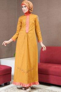 Azka Sarimbit V5 Gamis GSK15 - Golden (Toko Jilbab dan Busana Muslimah Terbaru)