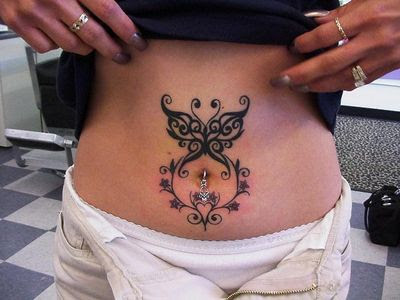 Belly Button Tattoos Designs