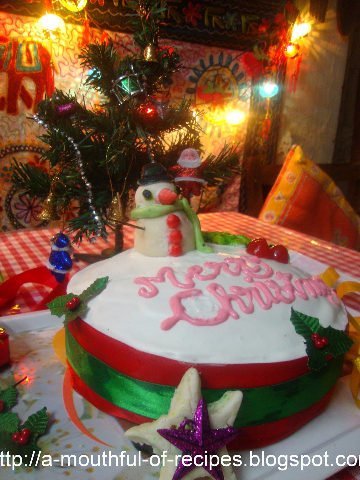 Christmas Glase Fruit Celebration Cake Recipe