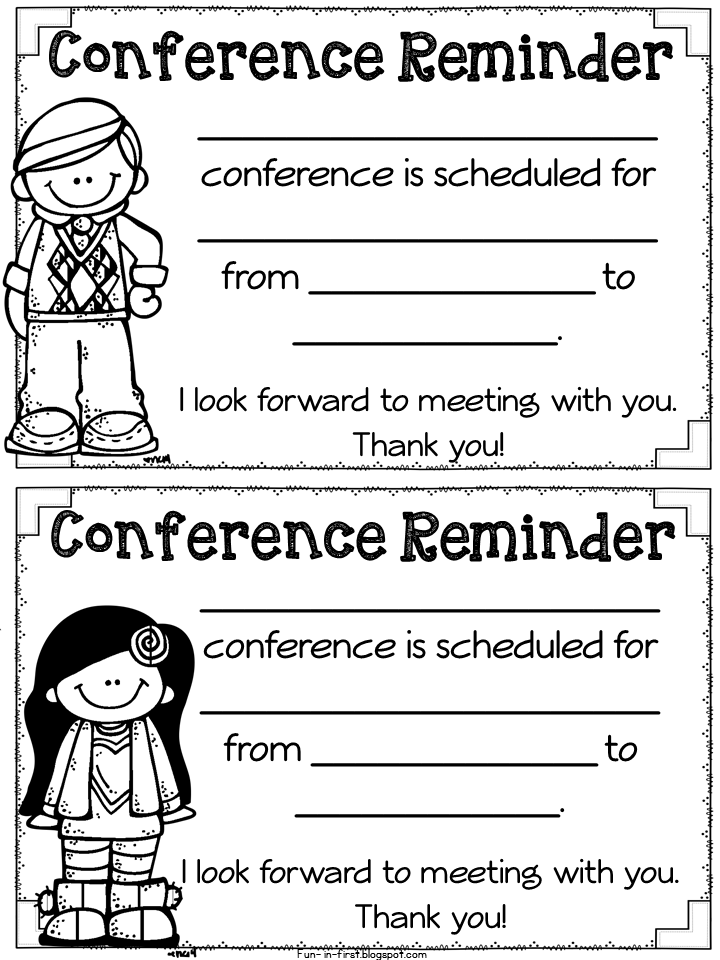 Freebielicious Parent Teacher Conference Forms
