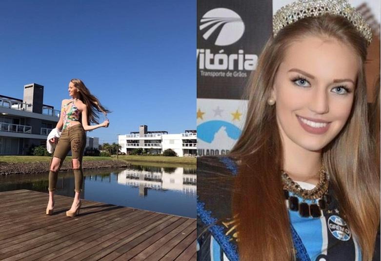 A bela miss de lindos olhos azuis da cidade de Tupanciretã (RS) representará sua cidade natal no Mi