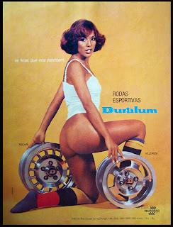 propaganda rodas Duralum - 1976. brazilian advertising cars in the 70. os anos 70. história da década de 70; Brazil in the 70s; propaganda carros anos 70; Oswaldo Hernandez;