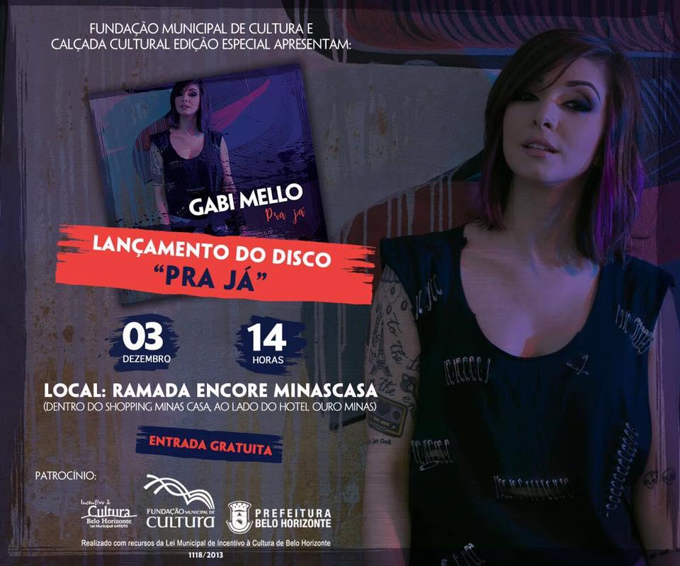 Dia 03 de dezembro tem Gabi Mello!