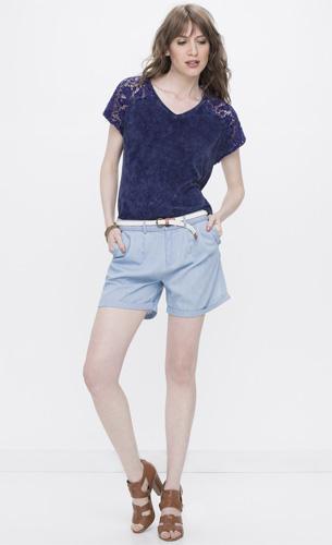 Renner coleção feminina Primavera Verão 2016 short jeans com cinto