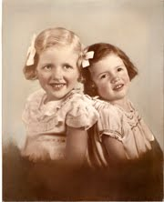 Mom and Aunt Stella as children