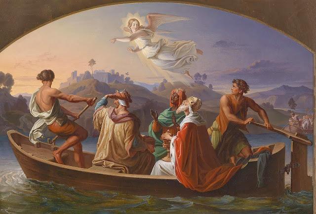 Los tres reyes magos se dirigen a Belén.