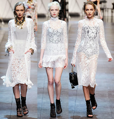 HVB vintage wedding blog, lace wedding dresses feature - Dolce & Gabbana dresses