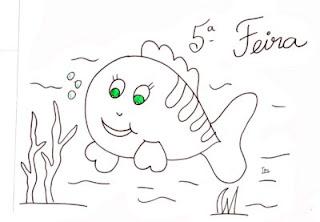 desenho peixinho para pintar