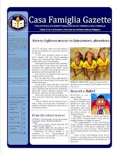 Casa Famiglia Gazette