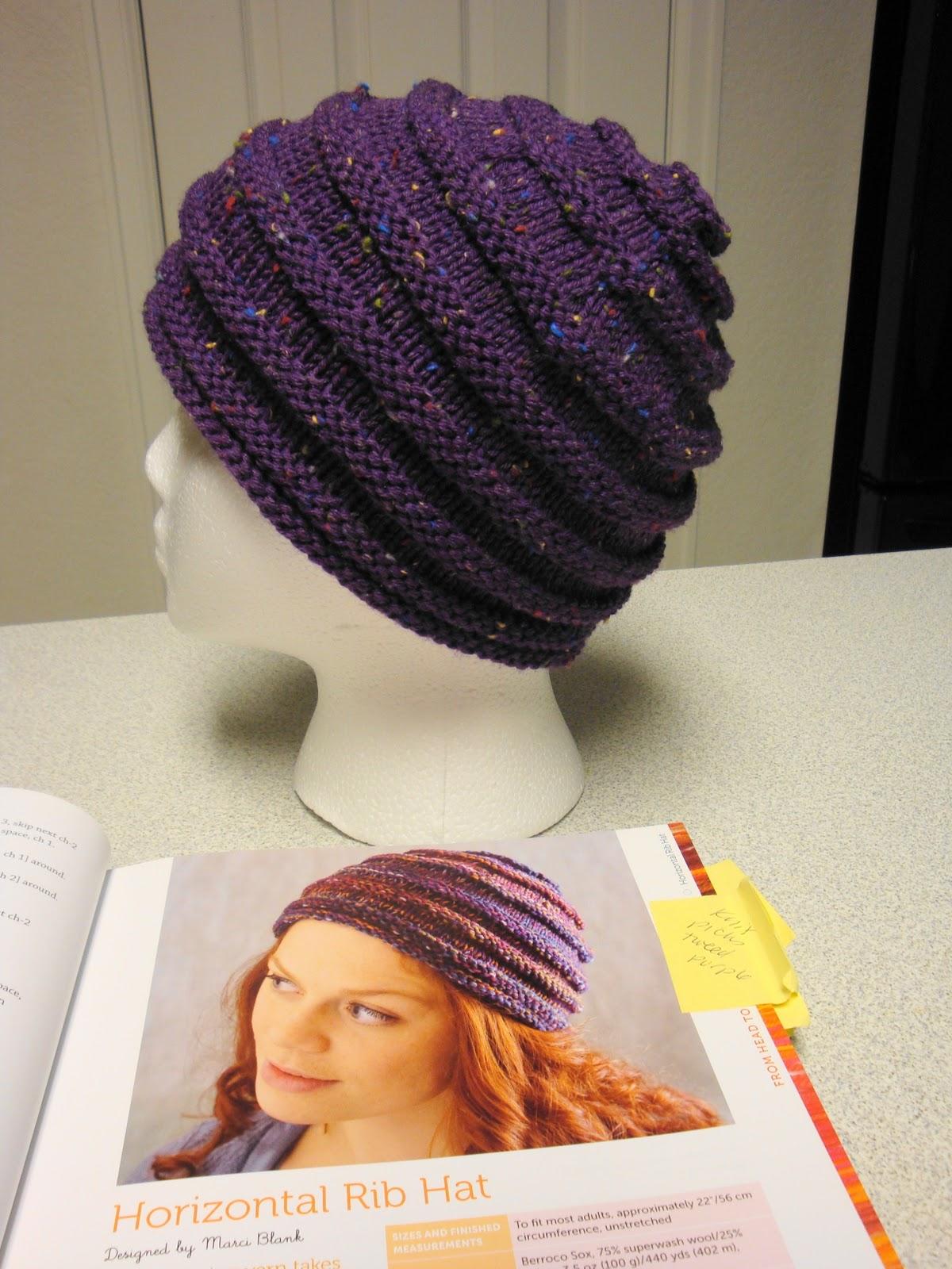 Wonder Knit Self Patterning Wool : Kims Knitting Korner: Horizontal Rib Hat: One-Skein Wonder Project #3