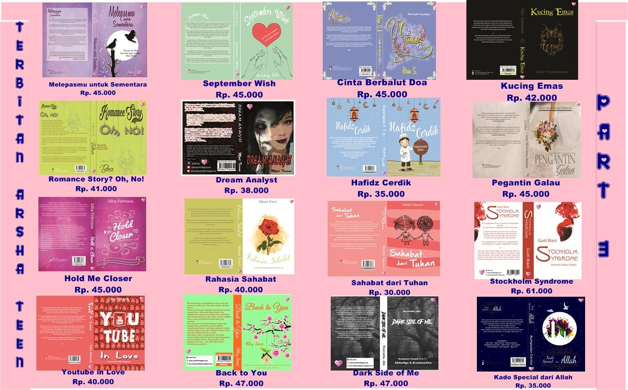 Novel Terbitan Arsha Teen Tahun 2016 Part II