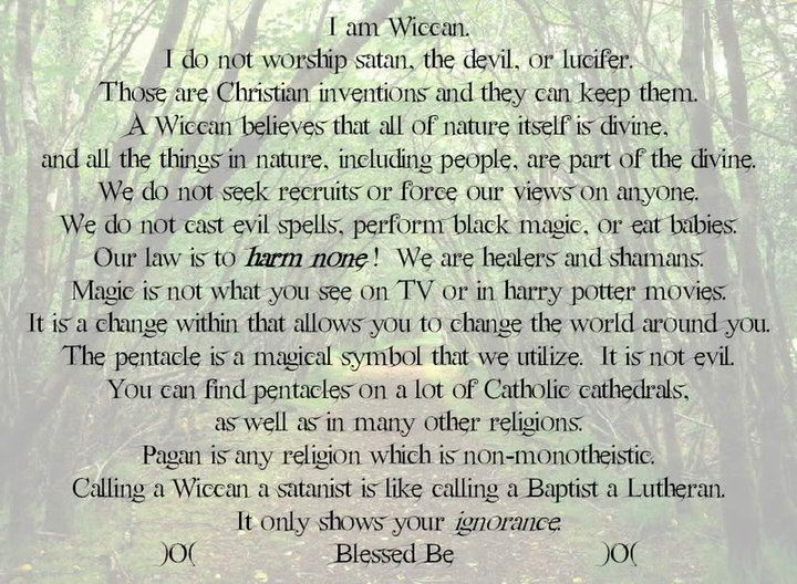 christian and wiccan beliefs essay Modern paganism, also known as contemporary paganism and neopaganism, is a collective term for new religious movements influenced.