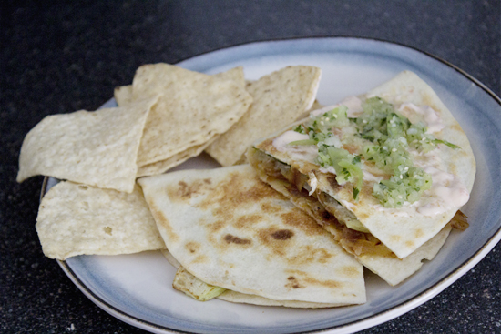roasted chayote quesadillas {so sweet like sarah}
