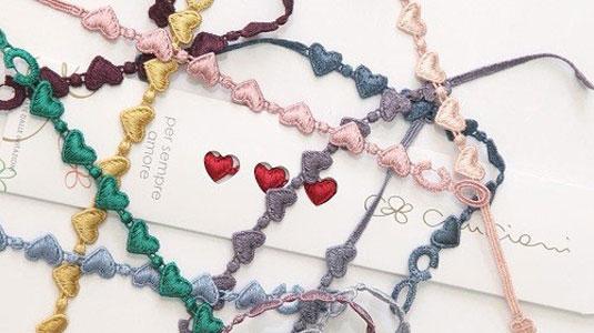 packaging braccialetti cruciani cuore