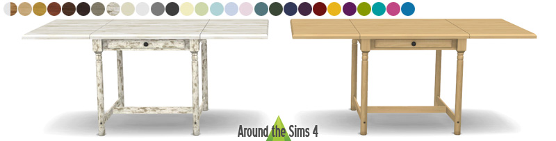 My sims 4 blog ikea folded tables chairs by sandy around the sims - Table cuisine ikea pliante ...