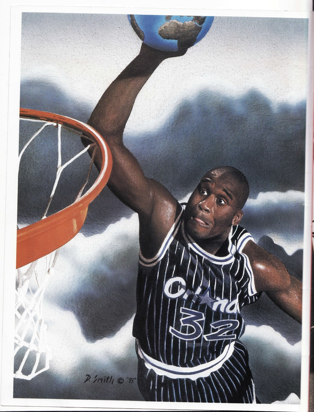 Shaq dunks the world in Beckett Basketball Monthly