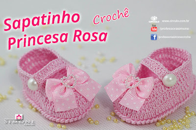 ZAPATO DE BEBE PRINCESA ROSA PASO A PASO CON VIDEO TUTORIAL