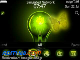 Free Download Tema Blackberry Davis 9220 Butterfly Neon OS 7