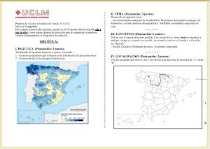 Examen Selectividad de Geografía (PAEG-PAU) 2013