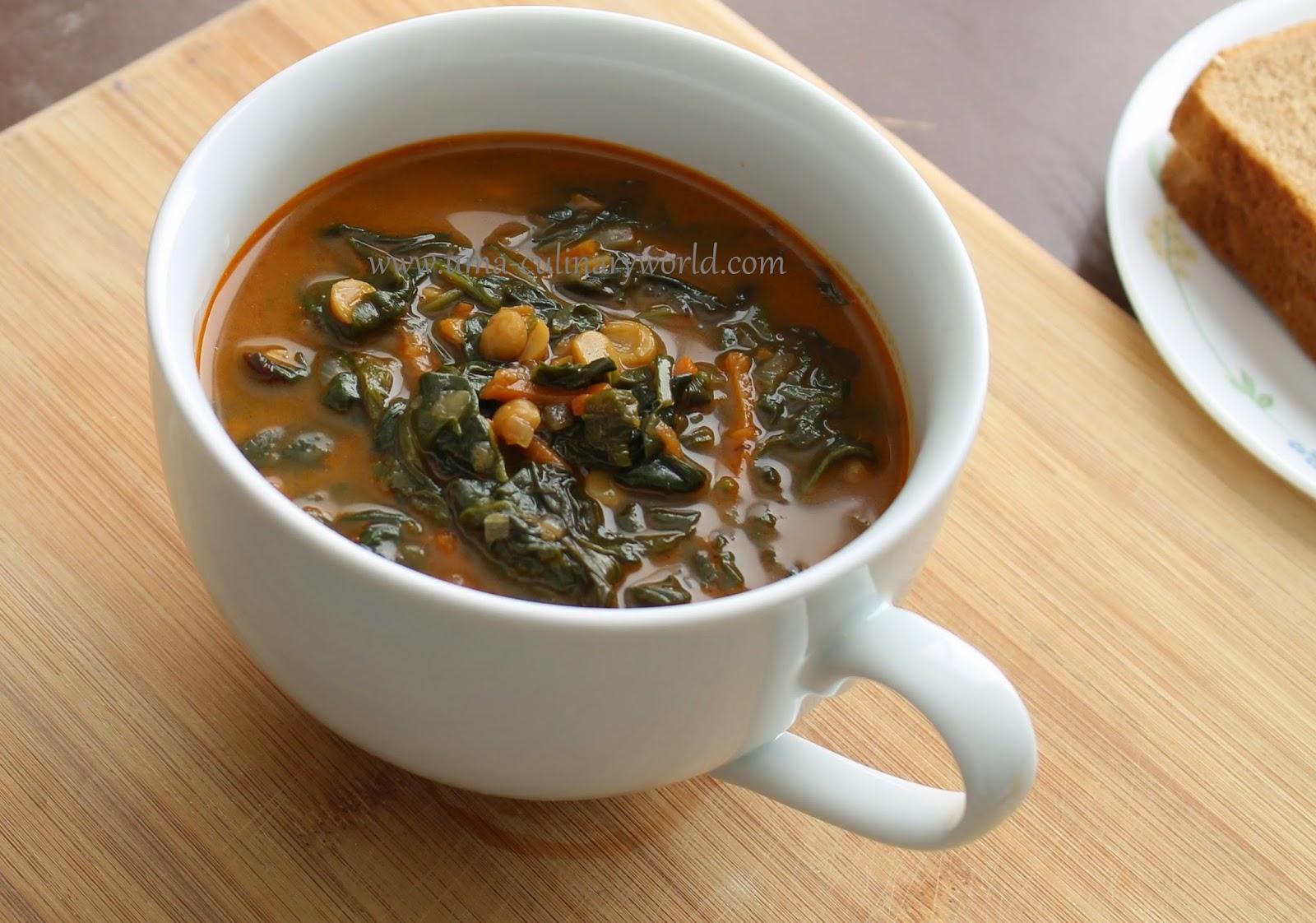 Chana Dal Mixed Greens Soup