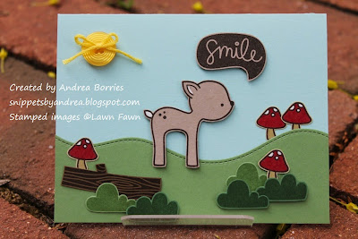 Kids birthday cards made with Lawn Fawn stamp sets Into the Woods and Gleeful Gardens.