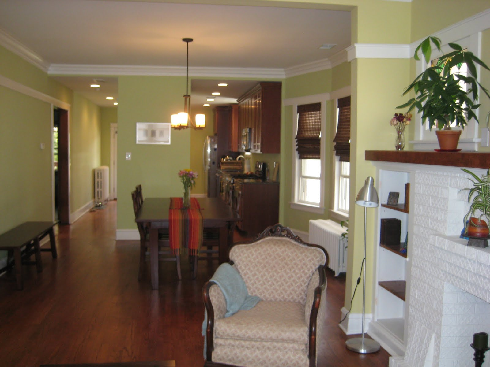 Troy Street Bungalow: Living and Dining Room