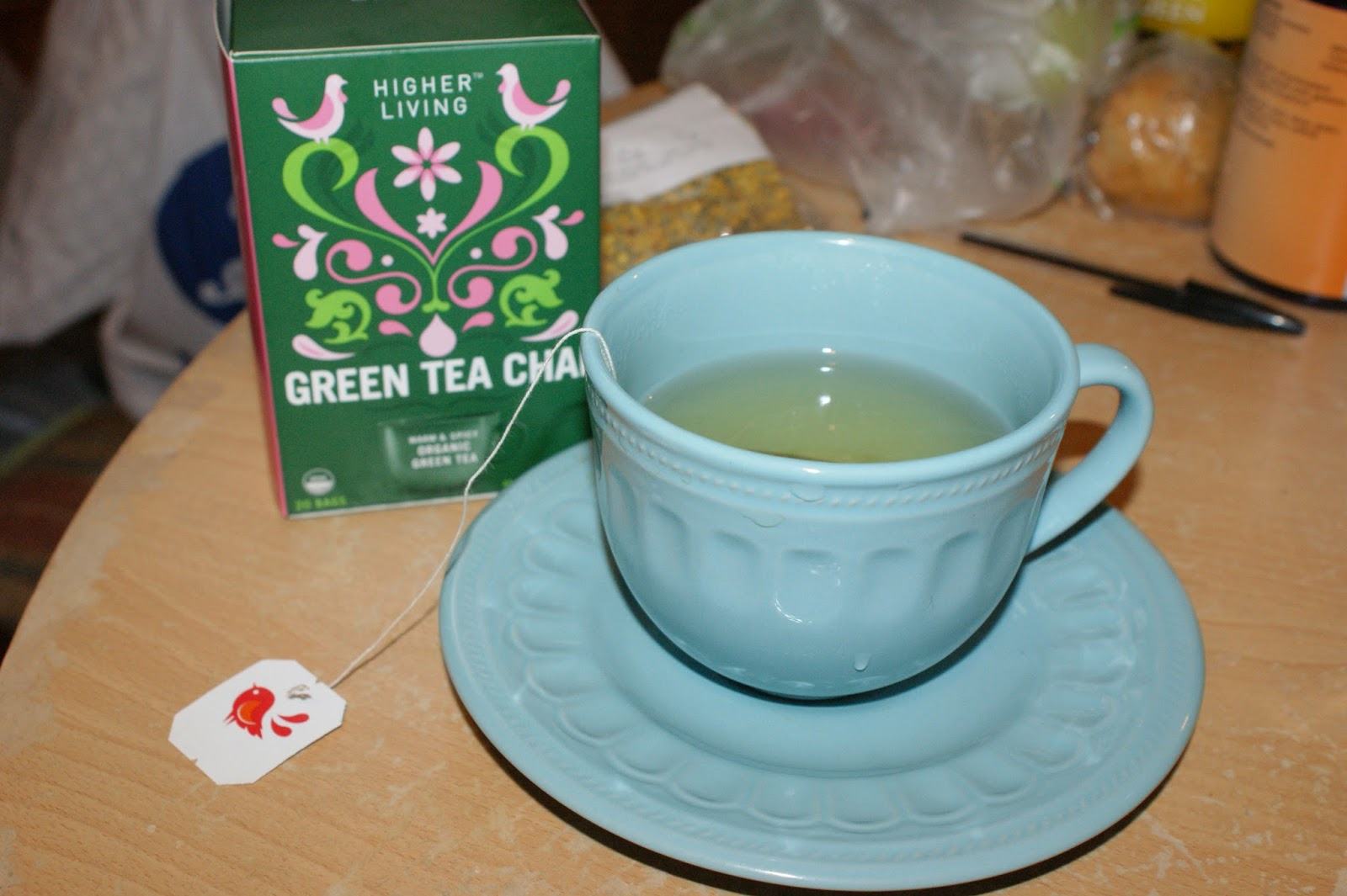 higher living green tea chai