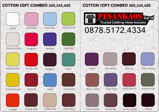 Katalog Warna Kaos Cotton Combed 2
