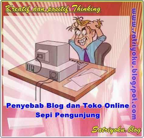 Penyebab Blog dan Toko Online Sepi Pengunjung