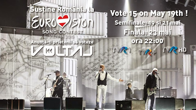 VOLTAJ EUROVISION 2015 Voltaj De la capat semifinala Viena marti 19 mai 2015 TVR ora 22.00 Romania Voltaj All Over Again Voteaza Voltaj eurovision song contest vienna 2015 first semifinal Voteaza 15 pe 19 mai cum votez voltaj de la capat Romania TVR prima semifinala transmisa in direct de televiziunea romana concursul muzical eurovision formatia voltaj romania all over again english version de la capat
