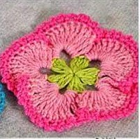 Flor a Crochet o Ganchillo