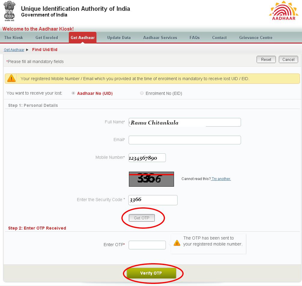 Solutions to missing aadhaar card at resident uidai net in gateways