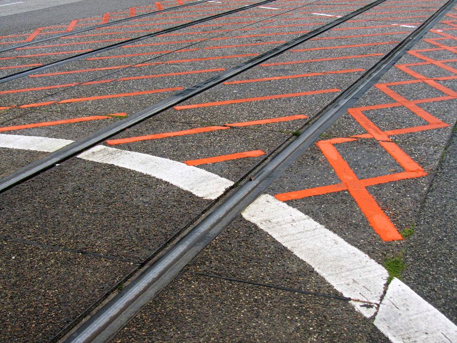 street: orange pattern