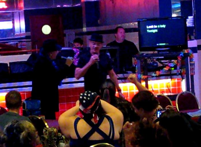 Robert Picardo singing karaoke