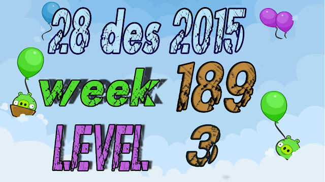 Angry Birds Friends Tournament level 3 Week 189