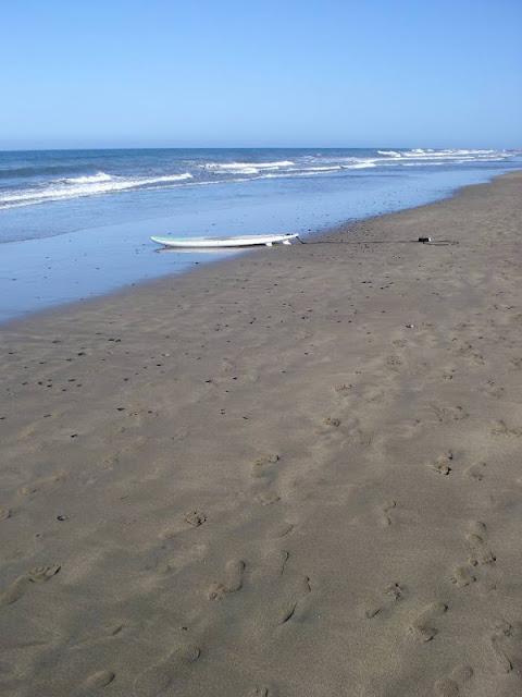 Surfboard am Strand von Maspalomas