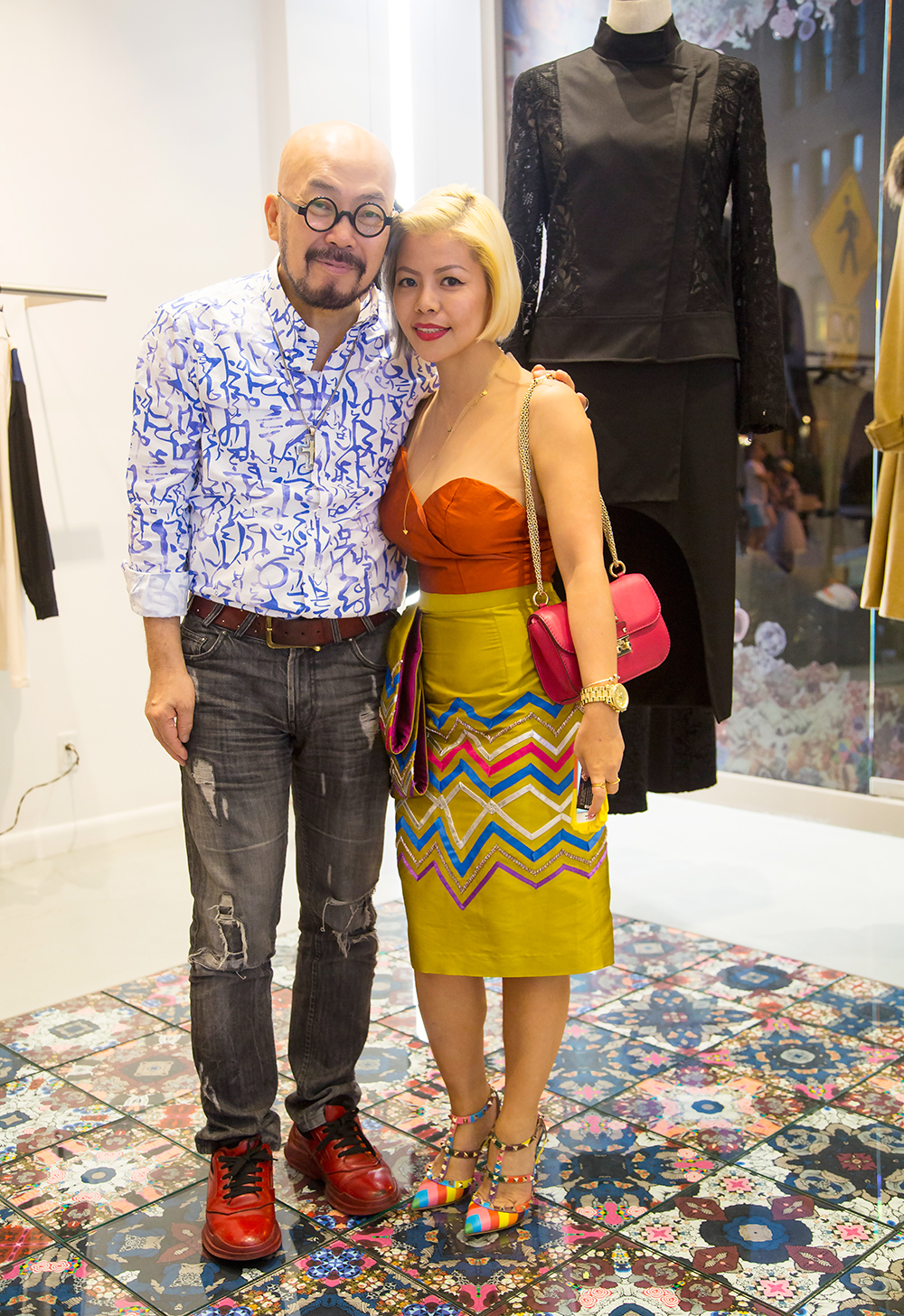 Singapore Fashion Blogger- Crystal Phuong- Lie SangBong after party with Mr. Lie SangBong