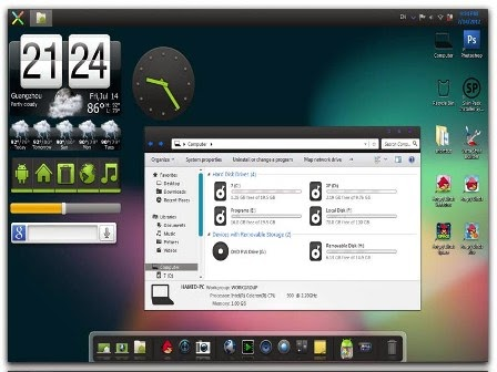 Jelly Bean Skin Pack 4.0 Windows 7 x86