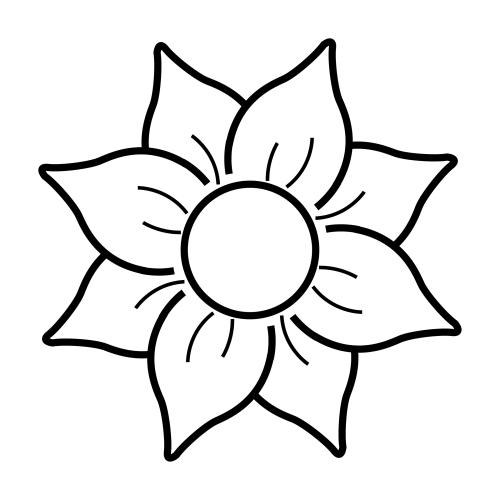 imagenes de flores para colorear grandes - Flor grande para colorear Imagui