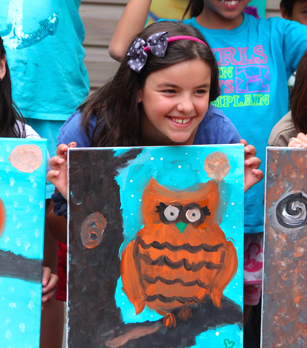 Minion Parties and #KinderSmiles - owl painting