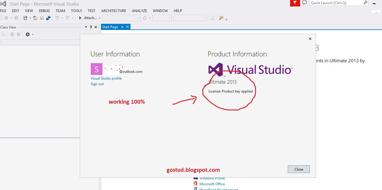 how to get product key for visual studio 2013 ultimate