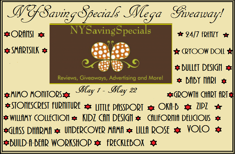 Enter the NY Savings Specials Mega Giveaway. Ends 5/22.