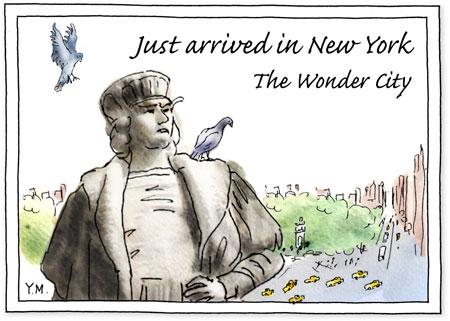postcard from NYC by Yukié Matsushita