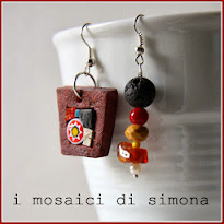 Adorable mosaic jewellery made by Simona Canino