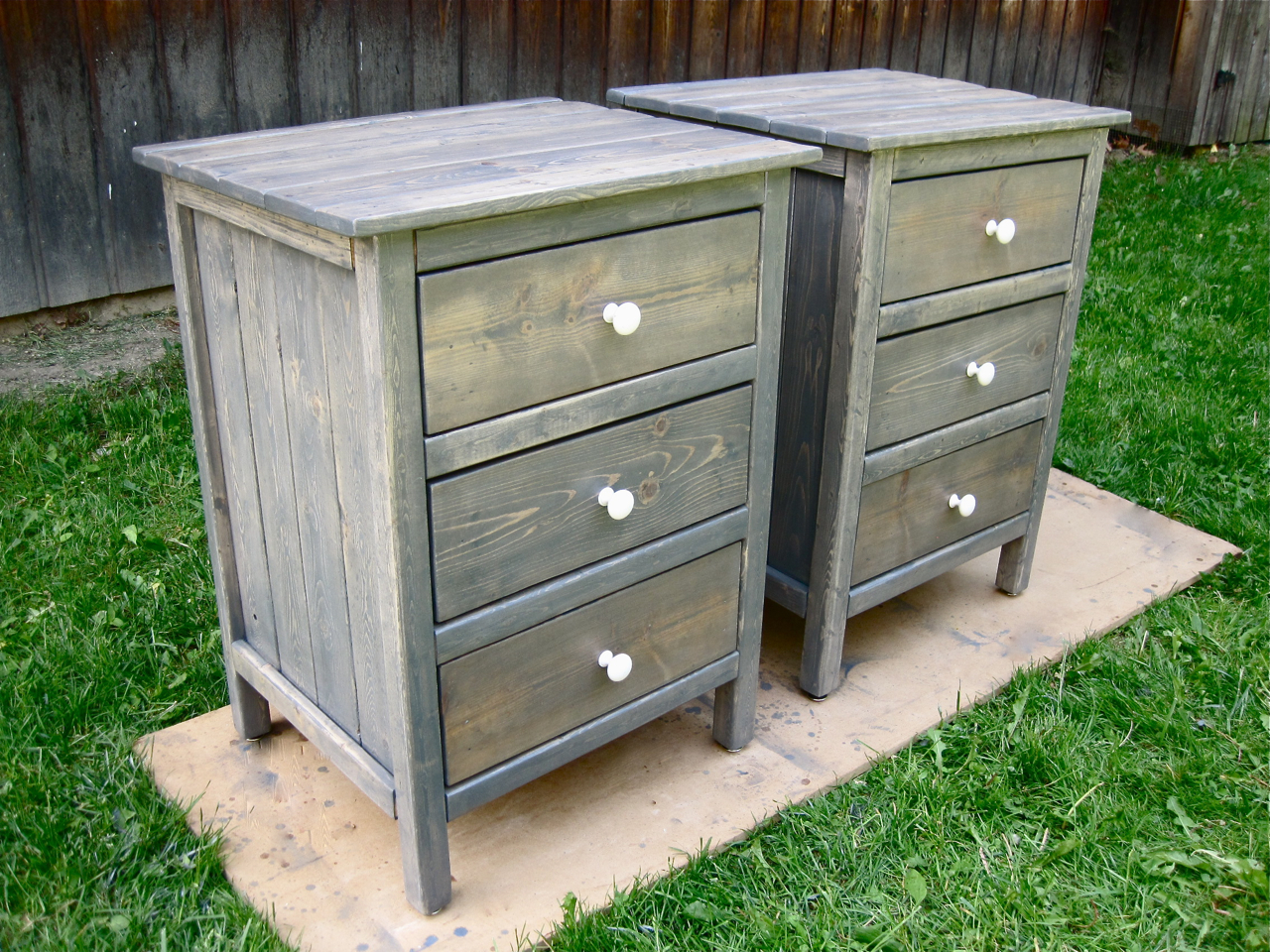 The project lady night stands with 3 drawers for Build a bedside table