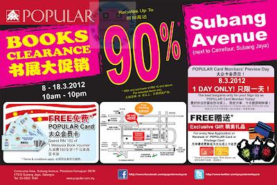 Popular Books Clearance Sale Subang Avenue 2012